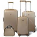 KINSTON Set 3 valises 4 roues + Vanity Beige