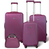 KINSTON Set 3 valises 4 roues + Vanity Violet
