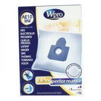 WPRO AE10-MW Sac aspirateur Aeg / 4 SACS + 1FM Fermeture proprete