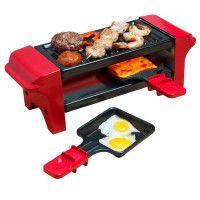 BESTRON AGR102 Raclette gril - 350W - 2 a 4 personnes - Rouge et noir