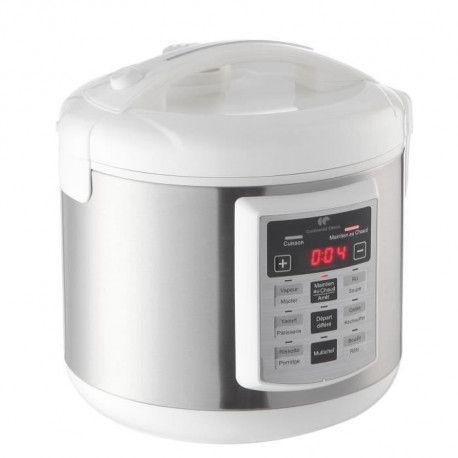 CONTINENTAL EDISON Multicuiseur electrique - MC900W - 5 L - Blanc