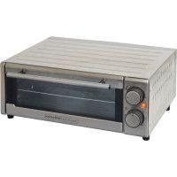 KITCHEN CHEF GP-15AL-G - Four a pizza - 1300 W - Inox - Diametre 30 cm - 2 resistances