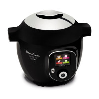 MOULINEX CE855800 Multicuiseur intelligent Cookeo + Connect avec 150 recettes pre-programmees - Noir