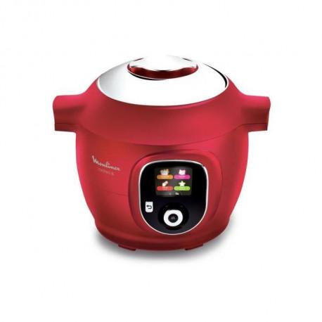 MOULINEX CE851500 COOKEO Multicuiseur intelligent avec 150 recettes preprogrammees - Rouge