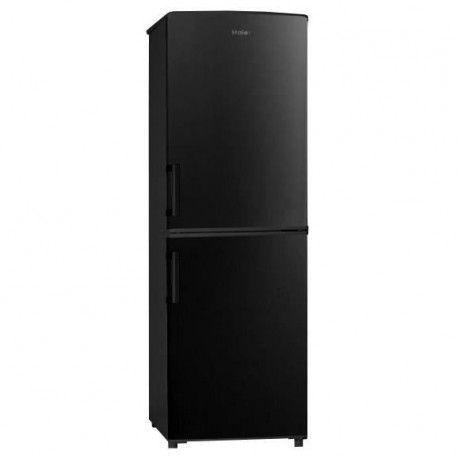 HAIER HBM-446B - Refrigerateur congelateur bas - 140L 89+51 - Froid statique - A+ - L 48cm x H 145cm - Noir brillant