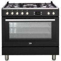 BEKO GM15310DB Piano de cuisson - Table gaz 5 foyers - 3,3kW - Four multifonction- 112L - A++- Larg 90cm x Haut 85cm - Coloris N