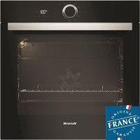BRANDT BXP5560B - Four electrique encastrable multifonction chaleur tournante - 73L - Pyrolyse - A+ - Noir