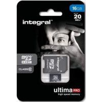 INTEGRAL Carte micro SDHC INTEGRAL INMSDH 16 G-100 V 10
