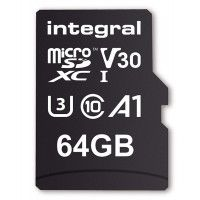 INTEGRAL Carte micro SDHC/XC INTEGRAL INMSDX 64 G-100/70 V 30