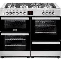 STOVES PCITY110DFTSS - Cuisiniere table de cuisson gaz - 7 foyers - Four electrique 4 cavites - A - Inox et noir