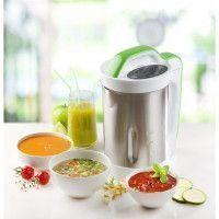 DOMO DO499BL Blender chauffant Soup Maker Inox et Vert