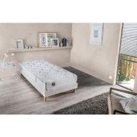 CONFORT DESIGN Ensemble matelas + sommier 90 x 190 - Latex - 16 cm - Equilibre