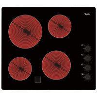 WHIRLPOOL AKM9010NE Table de cuisson vitroceramique - 4 foyers - 6200W - L58 x P51cm - Revetement verre - Noir