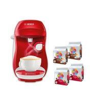 BOSCH Tassimo happy-1400 Watt-TAS1006C Rouge+Blanc + 4 packs de T-Discs
