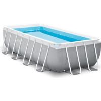 Kit piscine INTEX Prism Frame - Rectangulaire - 488 x 244 x 107 cm - Bleu