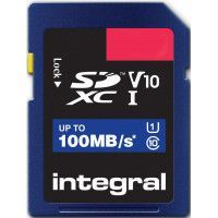 INTEGRAL Carte micro SDXC INTEGRAL INSDH 16 G-100 V 10