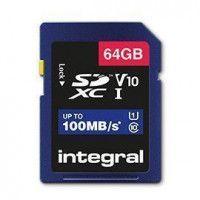 INTEGRAL Carte micro SDHC/XC INTEGRAL INSDX 64 G-100 V 10