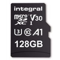 INTEGRAL Carte micro SDHC/XC INTEGRAL INMSDX 128 G-100/90 V 30