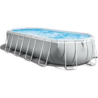 Kit piscine Intex prism frame - Ovale tubulaire - l6,10 x l3,05 x h1,22m