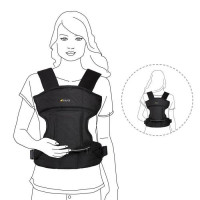 HAUCK porte bebe 3 way carrier - 3 positions possibles - black
