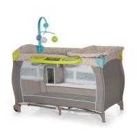 HAUCK Lit Parapluie  Baby Center avec plan a langer - Multi Dots Beige