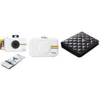 POLAROID Appareil photo instantane Snap avec 10 films + Etui Cuir + Album Photo