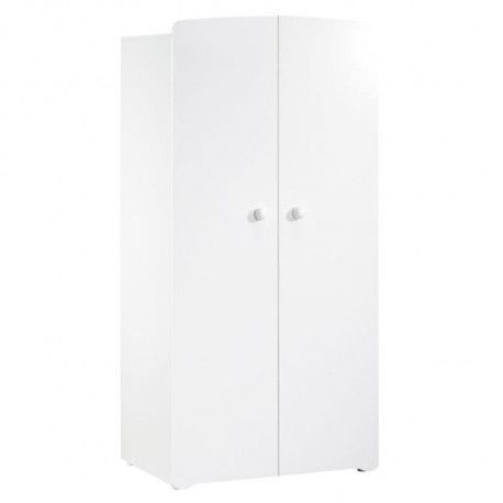 BABY PRICE New Basic Armoire Chambre bebe 2 Portes