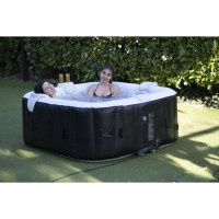 SUNSPA Spa gonflable carre lamine 6 personnes a Led