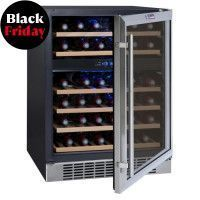 LA SOMMELIERE CVDE46-2 - Cave a vin de service - 45 bouteilles - Encastrable - Classe B - L 59,5 cm - H 82,8 cm
