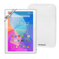 POLAROID Pack Tablette Tactile Pure 10,1 IPS + Housse -RAM 1Go -Quadri coeur - Android 5.1- Stockage 32Go - Blanc