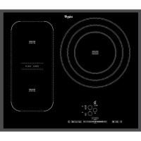 WHIRLPOOL ACM846BA - Table de cuisson a Induction - 3 zones - 7400W - L65 x P51cm - Revetement verre - Noir