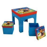 PATPATROUILLE Ensemble Table + 2 Tabourets