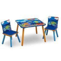 DELTAKIDS - GN - Ensemble Table et 2 Chaises Bois Enfant - Ocean