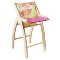 JB BOIS Chaise Haute Moderne rose et verte