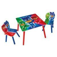 PYJAMASQUES Ensemble Table Et 2 Chaises Pour Enfants