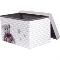 DOMIVA Caisse de rangement Little Bear - 48 x 32 x 32 cm