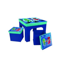 PYJAMASQUES Table enfant et 2 Tabourets
