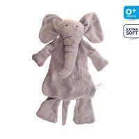 DIFRAX Elephant Elliot Peluche plate Soft Gris