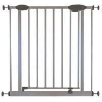 NIDALYS Barriere ROMEO Metal Portillon Sans percage 73-81cm Gris