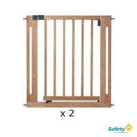 SAFETY 1ST Pack 2 Barrieres de securite Easy close Bois