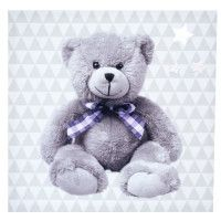 DOMIVA Toile lumineuse Little Bear - Scintillante - 30 x 30 cm