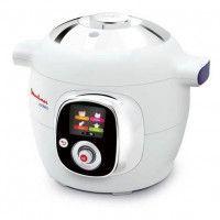MOULINEX CE704110 Multicuiseur intelligent Cookeo avec 100 recettes preprogrammees - 6 L - Blanc