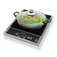 NAELIA CGF-03205 Plaque de cuisson posable a induction + faitout offert - Noir