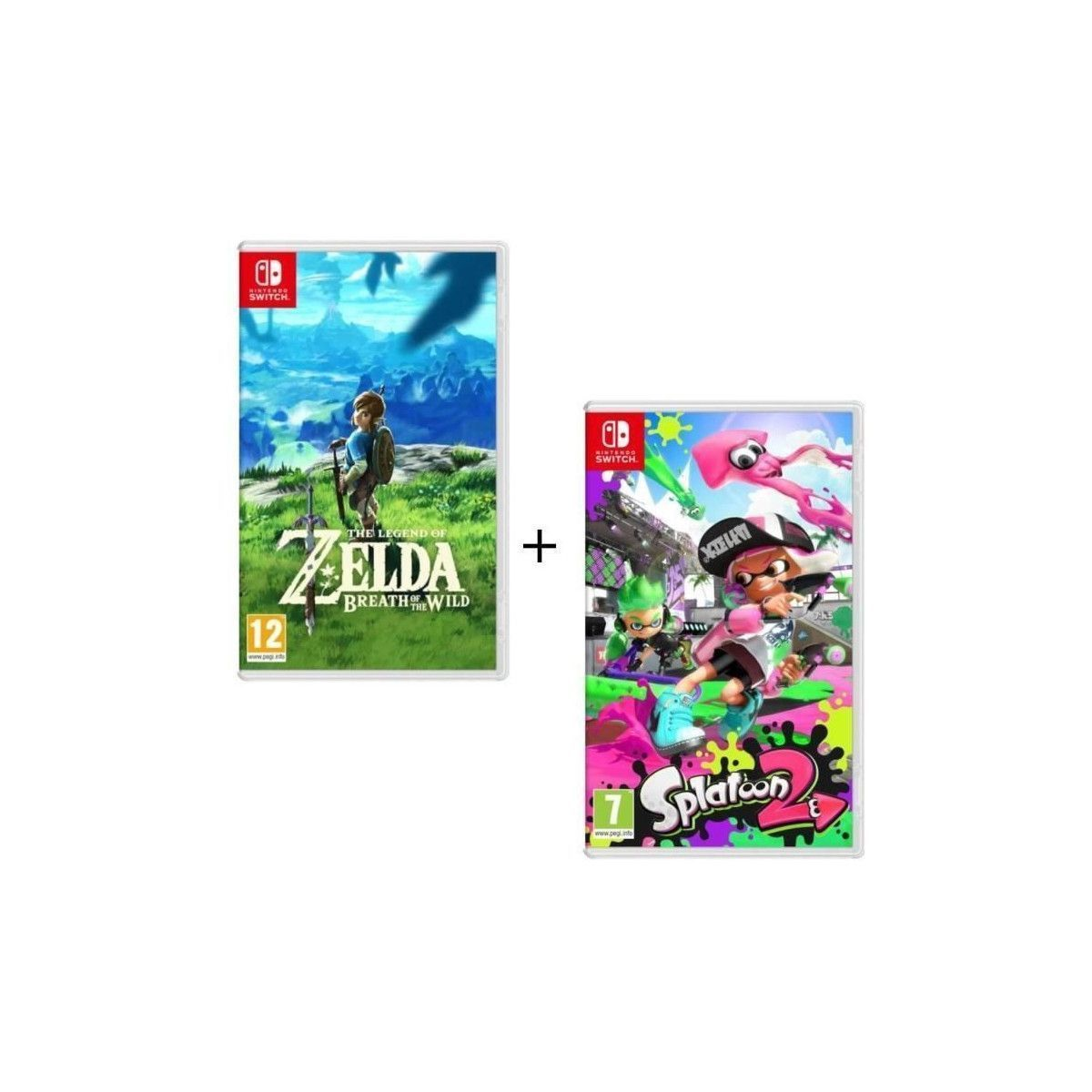 Acheter Pack 2 Jeux Switch The Legend Of Zelda Breath Of
