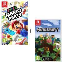 Pack  2 jeux Switch : Super Mario Party + Minecraft