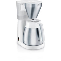 MELITTA Cafetiere isotherme Easy Top Therm Inox 1010-10 - 1 L - 8 a 10 Tasses - Blanc / Acier brosse