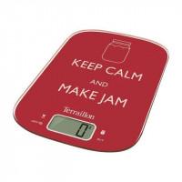 TERRAILLON Balance de cuisine electronique Neocook Keep Calm - 6 kg - Rouge