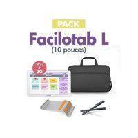 Pack Tablette Senior FACILOTAB L - 10.1 - WIFI/3G - 32GO - Blanc - Avec Support bureau, sacoche et stylets