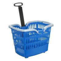 ROTO Panier Trolley Romeo - Avec attache guidon velo - Bleu