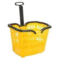 ROTO Panier Trolley Romeo - Avec attache guidon velo - Jaune